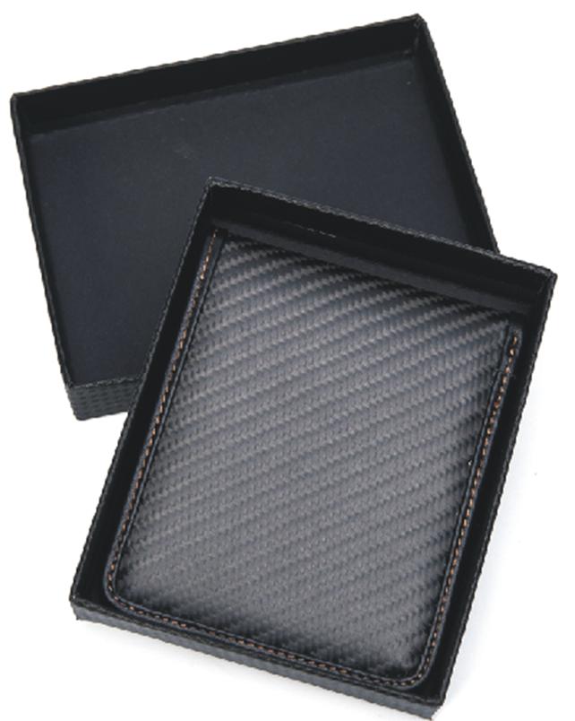 Carbon fiber & genuine leather bifold wallet - CL CARBONLIFE