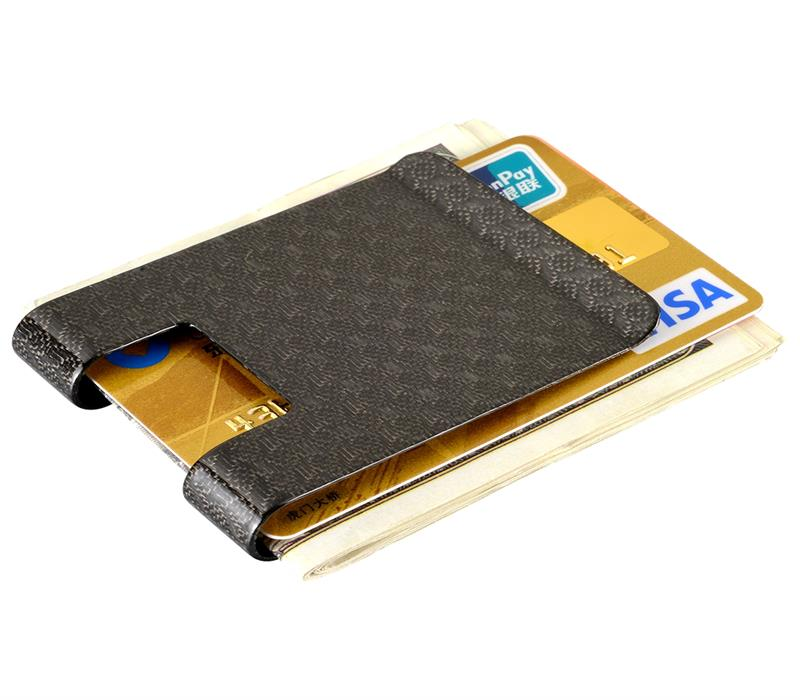 Carbon fiber money clip Glossy pattern