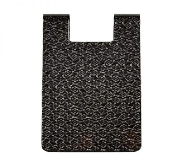 Carbon fiber money clip L Glossy -back