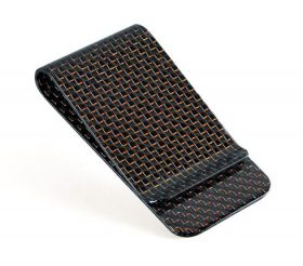 carbon fiber money clip glossy red - L