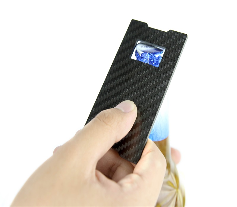 carbon fiber bottle opener slim wallet
