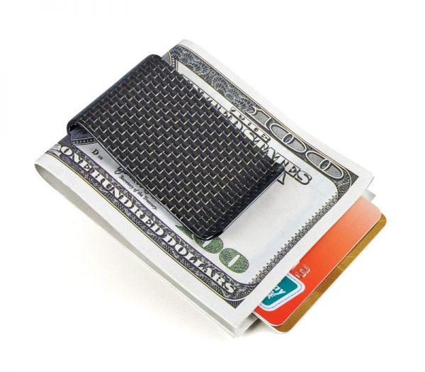 carbon fiber money clip glossy silver - L