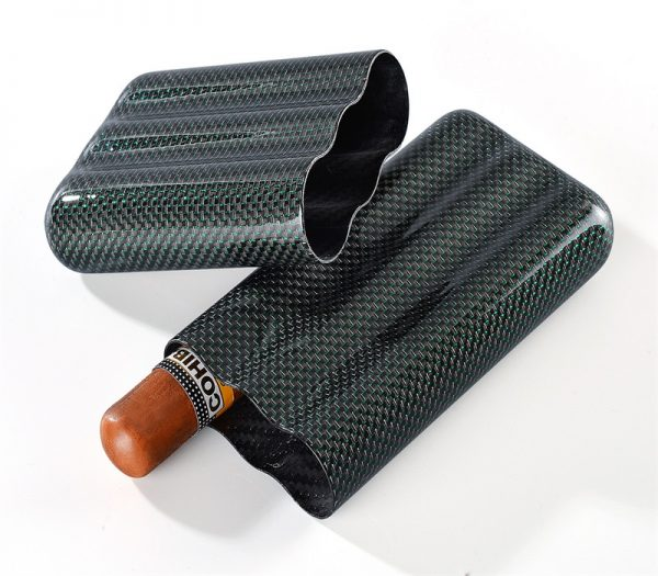 3tubes cigar case glossy green
