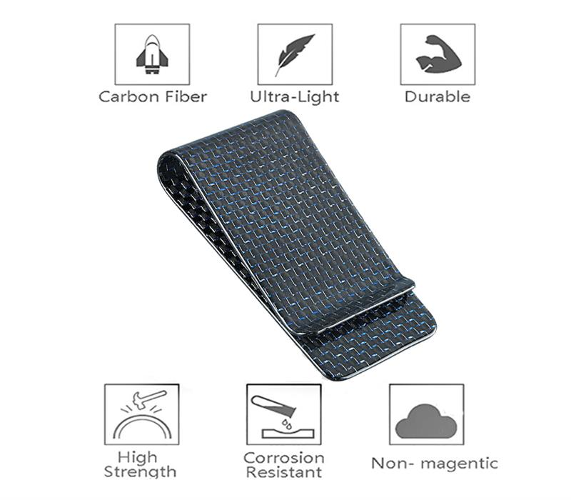 glossy-blue-carbon-fiber-money-clip-features