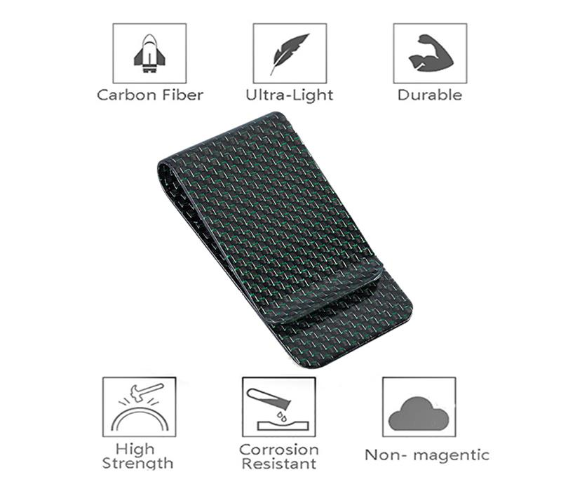 glossy-green-carbon-fiber-money-clip-features