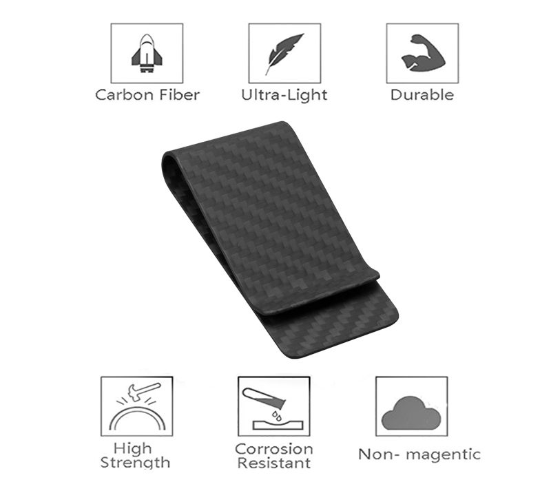 matte-black-carbon-fiber-money-clip-features