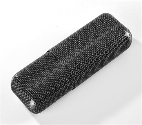 2tubes cigar case glossy silver