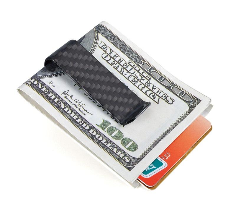 carbon fiber money clip S-Glossy Black