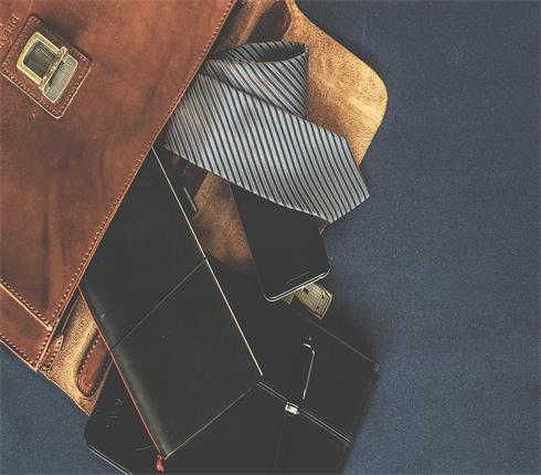brown-color-leather-brifecase-black-notebook-tie-wallet